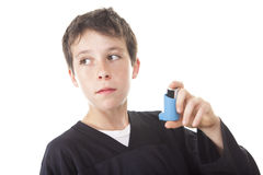 Asthma problem  Boy Stock Photo