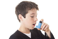 Asthma problem  Boy Royalty Free Stock Images