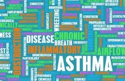 Asthma royalty free illustration