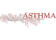 Asthma A Respiratory Disorder Word Cloud Concept Stock Images