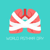 Asthma-respiratory system disease Stock Images