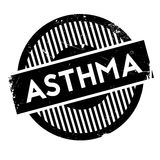 Asthma rubber stamp Royalty Free Stock Image