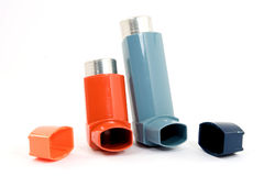 Asthma spray Royalty Free Stock Photos