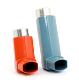 Asthma spray Stock Photography