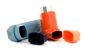 Asthma spray Royalty Free Stock Images