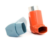 Asthma spray Royalty Free Stock Photo