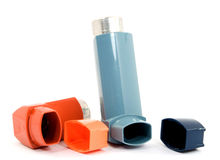 Asthma spray Stock Photos