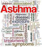 Asthma wordcloud Lizenzfreie Stockbilder