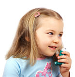 Asthmatic girl Stock Images