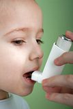 Asthmatic inhaler Stock Images
