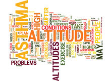 Asthmatics Don T Suffer At Altitude Word Cloud Concept Stock Image