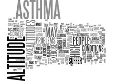 Asthmatics Don T Suffer At Altitude Word Cloud Stock Image