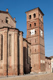 Asti Cathedral, Italy. The bell tower and exterior of the 13th century cathedral of the town of Asti in the Piedmont region of northern Italy Royalty Free Stock Photography