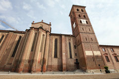 Asti cathedral in Italy Royalty Free Stock Images
