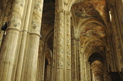 Asti (Italy). Asti (Piedmont, Italy) - Interior of the historic cathedral Royalty Free Stock Photos