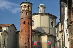 Asti (Italy). Asti (Piedmont, Italy), the medieval red tower Royalty Free Stock Photography