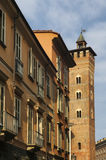 Asti (Italy). Asti (Piedmont, Italy): a tower and other historic buildings Royalty Free Stock Photography
