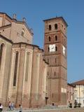 Asti katedra   Dzwonów wierza Zdjęcie Stock