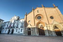 Asti San Secondo kyrka royaltyfria foton