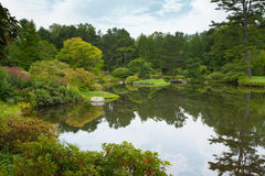 Asticou Azalea Garden. Scenic view of Asticou Azalea Garden in Northeast Harbor, Maine stock images