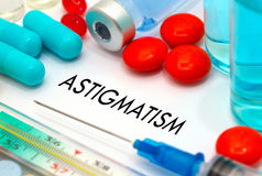 Astigmatism Royalty Free Stock Images