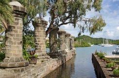 Astillero, Antigua y Barbuda de Nelsons, del Caribe Fotos de archivo
