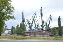 Astillero de Gdansk imagenes de archivo