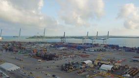 Astillero de la antena de Miami metrajes
