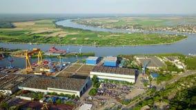 Astillero en el río Danubio metrajes