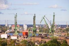 Astillero en Gdansk Imágenes de archivo libres de regalías