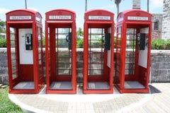 Astillero naval Bermudas de las cabinas de teléfono Fotos de archivo libres de regalías