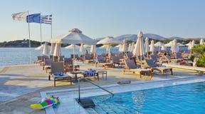 Astir el complejo del hotel del palacio (Westin y Arion) en Vouliagmeni, cerca de Atenas, Grecia Fotografía de archivo