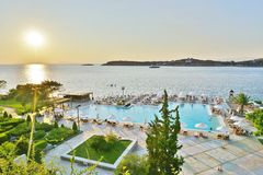 The Astir Palace hotel complex (Westin and Arion) in Vouliagmeni, near Athens, Greece Royalty Free Stock Photo