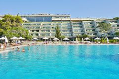 The Astir Palace hotel complex (Westin and Arion) in Vouliagmeni, near Athens, Greece Royalty Free Stock Image
