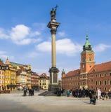 Astle fyrkant med Sigismunds kolonn Royaltyfri Foto