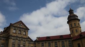 Сastle with moving clouds stock footage
