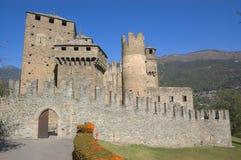 Сastle w Aosta Zdjęcia Royalty Free