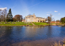 Astley hall from across the lake Stock Photo