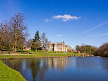 Astley hall from across the lake Royalty Free Stock Photo