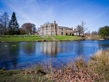 Astley hall from across the lake Royalty Free Stock Images