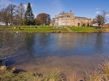 Astley hall from across the lake Stock Image