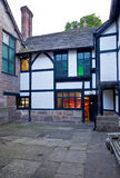 Astley Hall courtyard illuminated Royalty Free Stock Photography