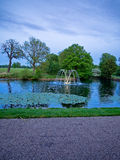 Astley Hall fountain in evening ligh Stock Image