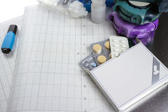 Astma, allergie, choroby reliefowy pojęcie, salbutamol inhalatory Zdjęcie Stock