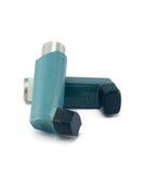 Astma inhalator odizolowywający na białym tle Obraz Stock