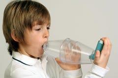 Astma - plastic verbindingsstuk Royalty-vrije Stock Foto