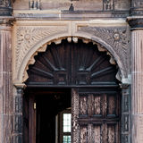 Aston Hall museum entrance gate square composition Birmingham UK Royalty Free Stock Image