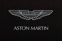 aston logo martin arkivfoto