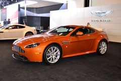 Aston Martin. At Qatar Motor Show Second Exhibition on the 25th of January 2012 royalty free stock photos