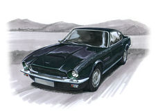 Aston Martin AMV8 Stockbild